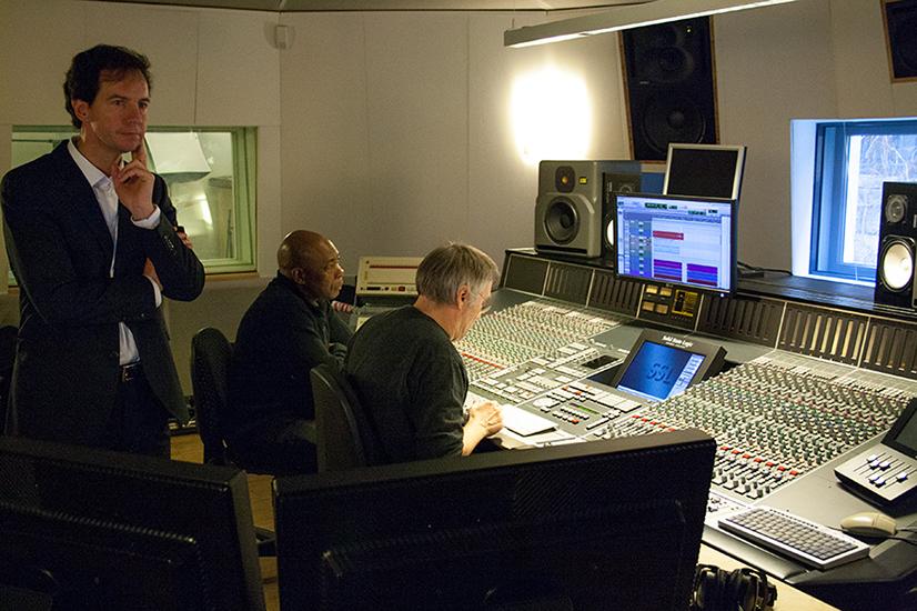 Lucius A. Hemmer, John Davis und Roland Häring im Streetlife Studio (v.l.)
